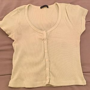Brandy Melville Cropped Button Up!!